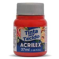 Tinta de Tecido Acrilex Vermelho Escarlate 37ML