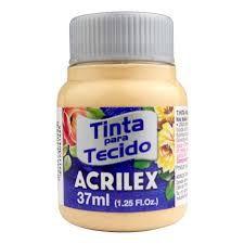 Tinta de Tecido Acrilex Amarelo Pele 37Ml
