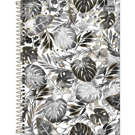 Caderno Tilibra 10x1 Bew Preto e Branco Folhas Largas 160fls