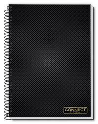 Caderno Credeal 10X1 Connect Preto com Listras 200 folhas