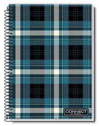 Caderno Credeal 10X1 Connect Xadrez Azul 200 folhas