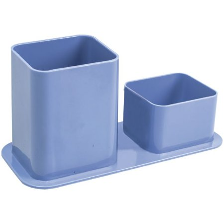 Porta Caneta Clips Dello Azul Claro
