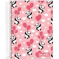 Caderno Jandaia 10x1 Stella Panda com Balão 160 folhas