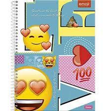 Caderno Foroni 10X1 Emoji Sometimes The Heart 200 folhas