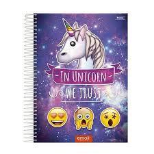 Caderno Foroni 10X1 Emoji In Unicorn 200 folhas