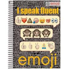 Caderno Foroni 10X1 Emoji I Speak Fluent 200 folhas