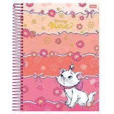 Caderno Foroni 10X1 Marie Fita de Laços e Flores 200 folhas