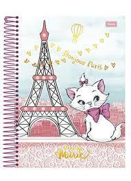 Caderno Foroni 10X1 Marie Bonjour Paris 200 folhas