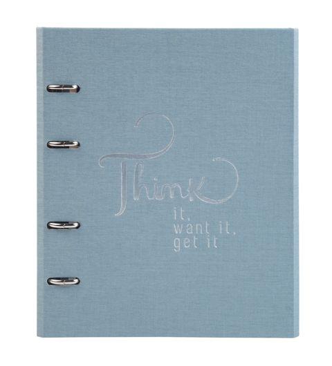 Caderno Fichário Ótima Ultra Cotton Azul