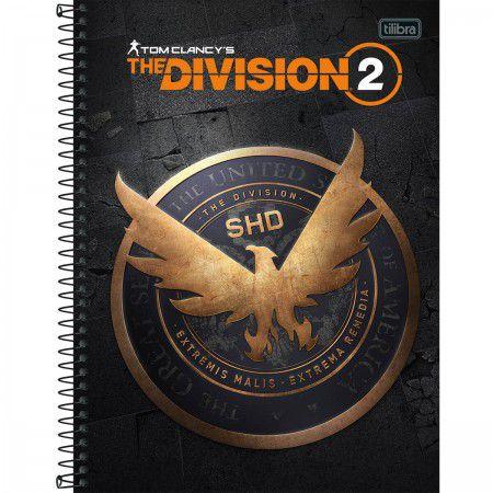 Caderno Tilibra 10X1 Division 2 Águia Fundo Preto 160 folhas