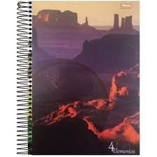 Caderno Foroni 10X1 4 Elementos Rochedo 200 folhas