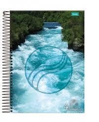 Caderno Foroni 10X1 4 Elementos Correnteza 200 folhas