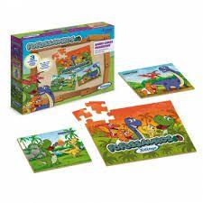 Puzzle Fofossauros Xalingo 8/15/30 peças em Madeira