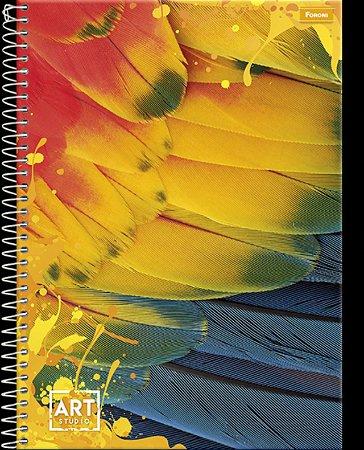 Caderno Foroni 10X1 Art Studio Pena Amarela 200 folhas