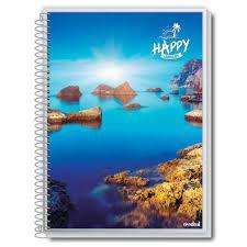 Caderno Credeal 10X1 Happy Mar com Pedras 200 folhas
