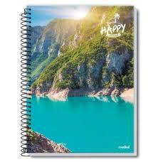 Caderno Credeal 10X1 Happy Montanha com Lago 200 folhas