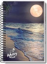 Caderno Credeal 10X1 Happy Lua e Mar 200 folhas
