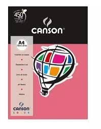 Papel A4 180G Canson Rosa Chiclete 10 folhas