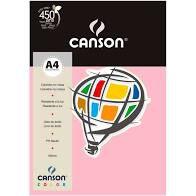Papel A4 180G Canson Rosa Claro 10 folhas