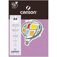 Papel A4 180G Canson Violeta 10 folhas