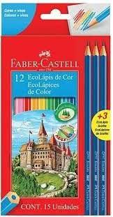 Lápis de Cor Faber Castell Eco Lápis com 12 Unidades +3