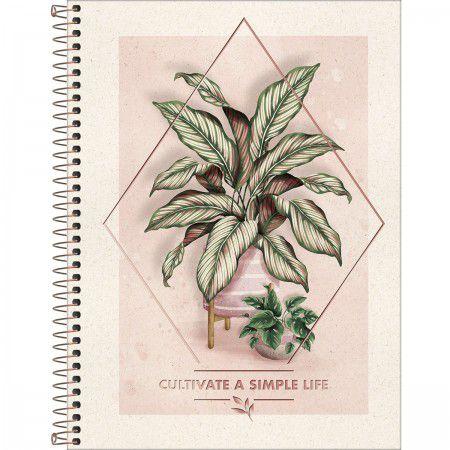 Caderno Tilibra 10X1 Naturalis Cultivate a Simple Life 160 folhas