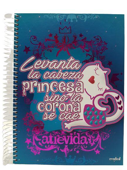 Caderno Credeal 12X1 Atrevida Levanta La Cabeza 240 folhas
