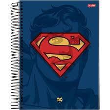 Caderno Jandaia 10X1 Dc Comics Superman 200 folhas