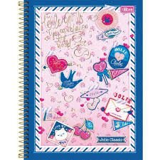 Caderno Tilibra 10X1 Jolie Classic Keep Loving 200 folhas