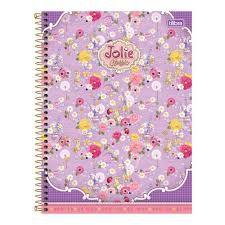 Caderno Tilibra 10X1 Jolie Classic 200 folhas