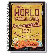 Caderno Credeal 10X1 Urban World College 200 folhas