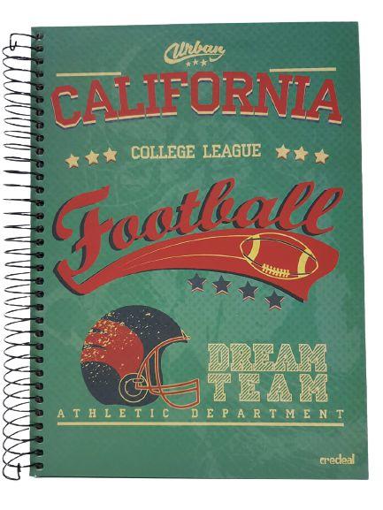 Caderno Credeal 10X1 Urban California 200 folhas