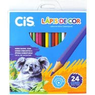 Lápis de Cor Cis Plastic com 24 Unidades