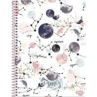 Caderno Foroni 15X1 Cosmos Signos Fundo Branco 240 folhas