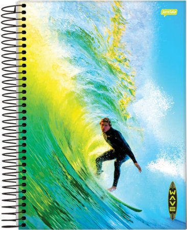 Caderno Jandaia 12X1 Wave Pegando Onda 240 folhas