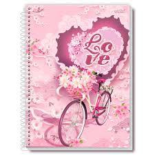 Caderno Credeal 10X1 Love Bicicleta 200 folhas
