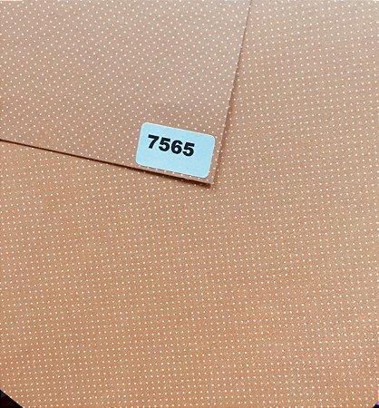 Papel Dupla Face Ouro/Bolinha (Poa) Branca VMP 48X66cm