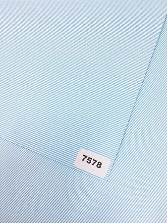 Papel Dupla Face Listra Azul Claro Fina VMP 48X66cm