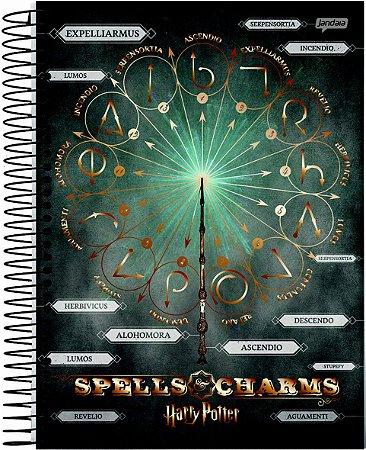Caderno Jandaia 10X1 Harry Potter Speels & Charms 200 folhas