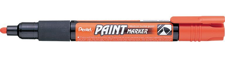 Marcador Pentel Paint Laranja