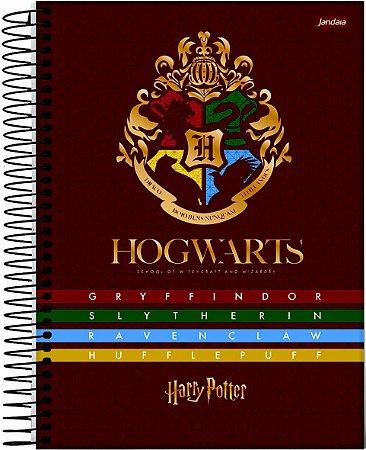 Caderno Jandaia 1X1 Harry Potter Brasão Hogwarts 96 folhas