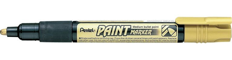 Marcador Pentel Paint Dourada