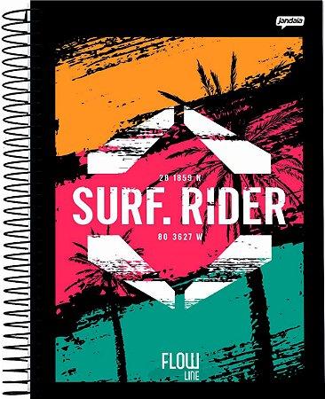 Caderno Jandaia 1X1 Flow Surf Rider 80 folhas