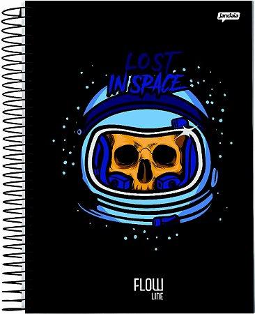 Caderno Jandaia 1X1 Flow Lost Inspace 80 folhas