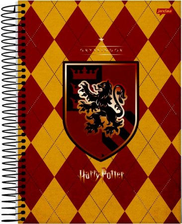 Caderno Jandaia 10X1 Harry Potter Brasão Gryffindor 200 folhas
