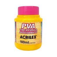 Tinta Pva Acrilex Fosca Amarelo Ouro 100Ml