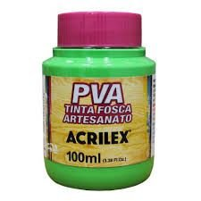 Tinta Pva Acrilex Fosca Verde Folha 100Ml