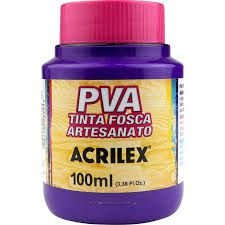 Tinta Pva Acrilex Fosca Violeta 100Ml