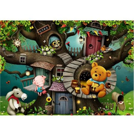Quebra Cabeça Ursinho na Árvore Pais e Filhos 60 peças