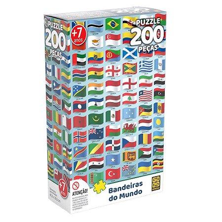 Puzzle Bandeiras do Mundo Grow 200 peças